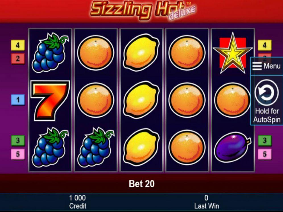 sizzling hot deluxe joc de pacanele online